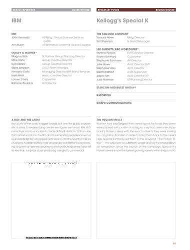 Effie Awards - 2014 - Page 18-19